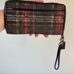 Coach tartan wallet